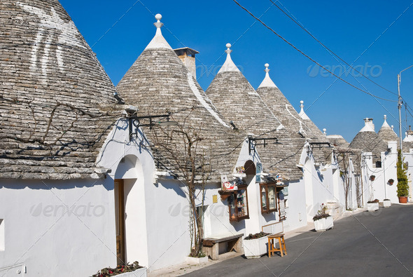 Alberobello's Trulli. Puglia. Italy. - Stock Photo - Images