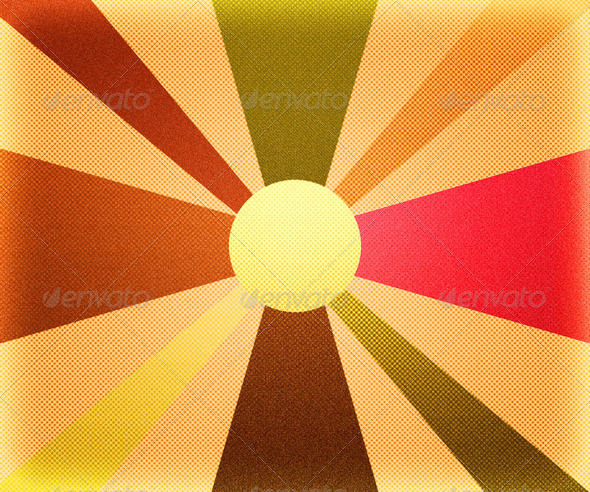 Retro Rays Background - Stock Photo - Images