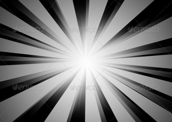 Radial Stripes Background (BW) 4 - Stock Photo - Images