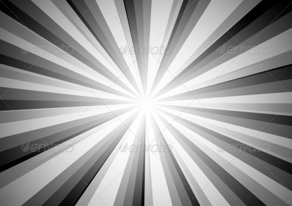 Radial Stripes Background (BW) 5 - Stock Photo - Images