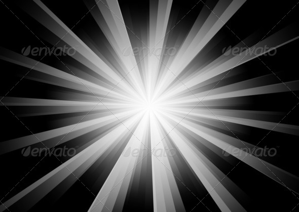 Radial Stripes Background (BW) 3 - Stock Photo - Images