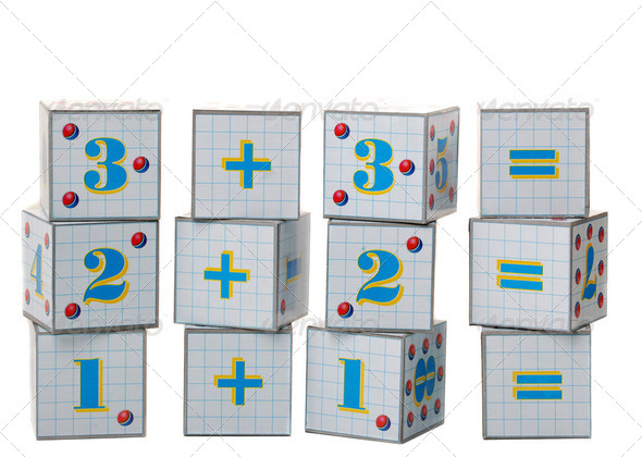 Figures on cubes - Stock Photo - Images