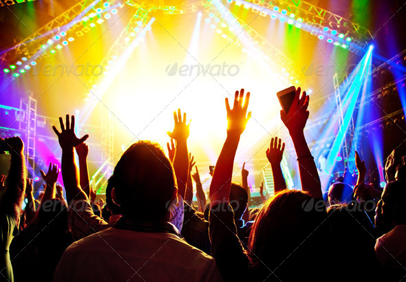 Rock concert - Stock Photo - Images