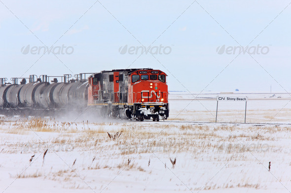 Train in Winter Canada - Stock Photo - Images