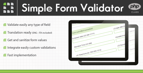 CodeCanyon Simple Form Validator PHP Class 1623830