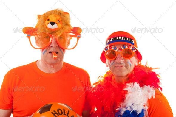 Dutch football supporters - Stock Photo - Images