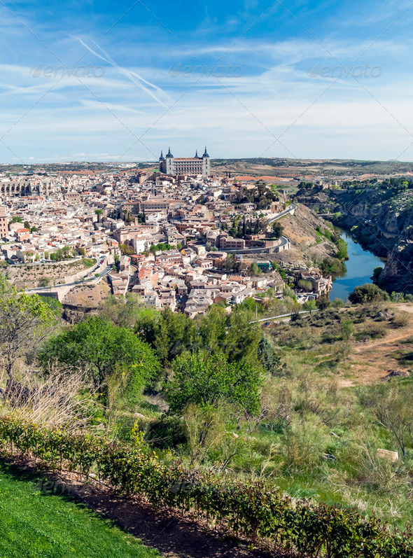 Spanish city of Toledo - Stock Photo - Images