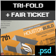 Professional Exhibition Tri-Fold Brochure / Ticket - GraphicRiver Item for Sale