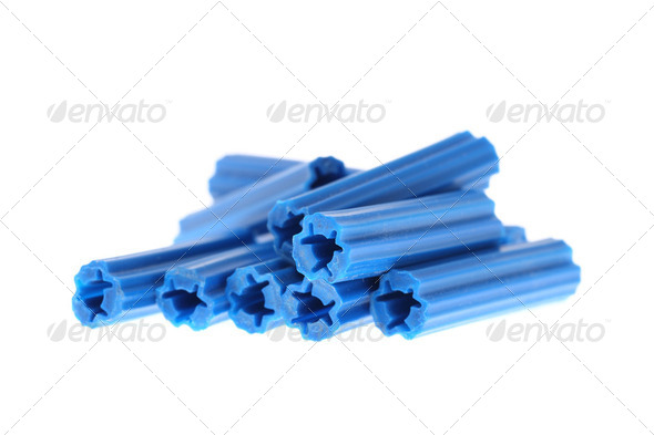 Blue dowels - Stock Photo - Images