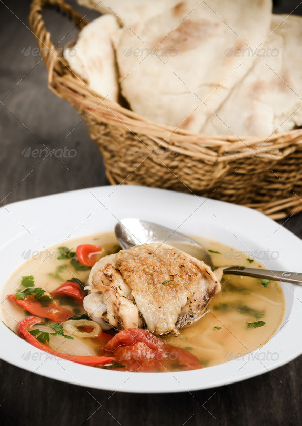 Chicken sour soup - Stock Photo - Images