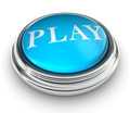 play word on blue button - PhotoDune Item for Sale