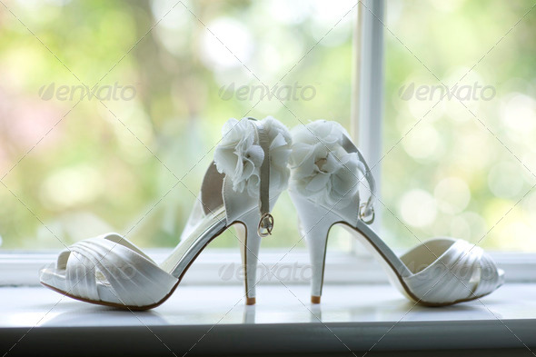 wedding shoes - Stock Photo - Images