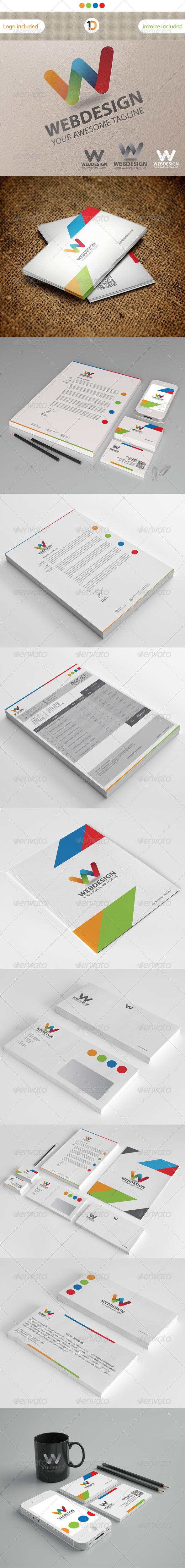 GraphicRiver Web Design Corporate Identity & Invoice Templates 3353747