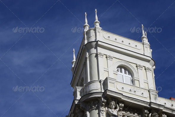 Madrid Building Detail 01 - Stock Photo - Images