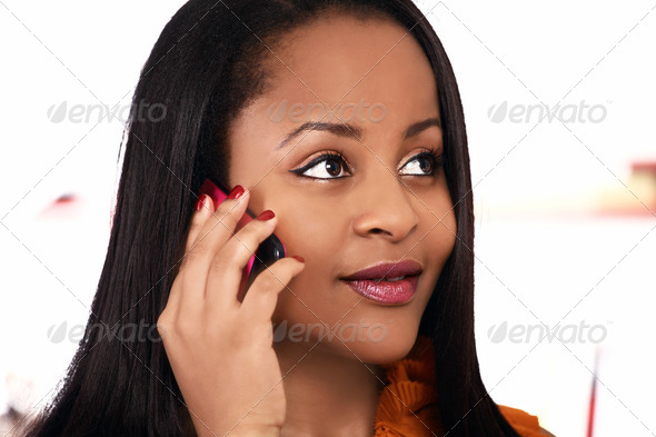 Girl on phone - Stock Photo - Images