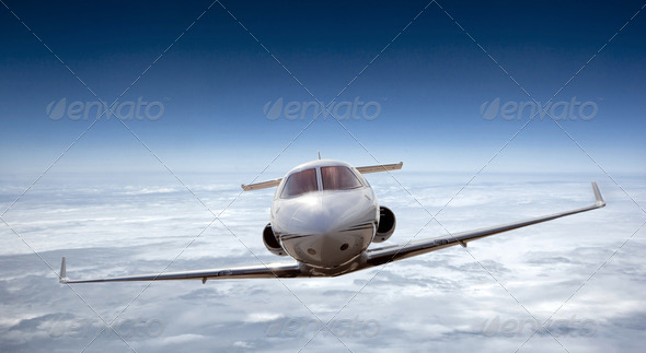 Airplane flying - Stock Photo - Images
