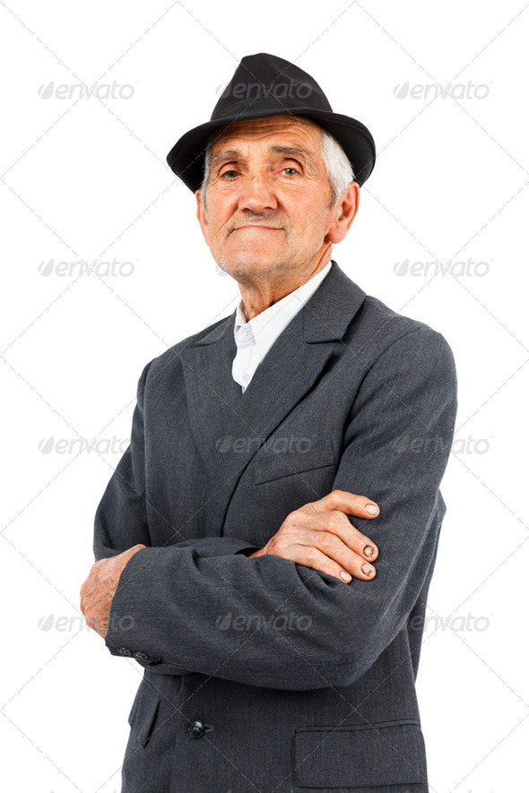 Old man with hat - Stock Photo - Images
