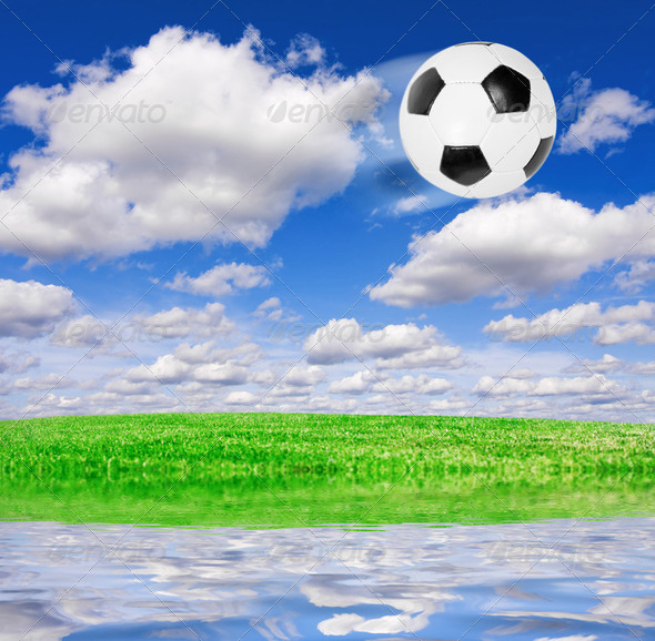 Football soccer ball - Stock Photo - Images