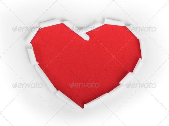 Heart shape symbol - Stock Photo - Images