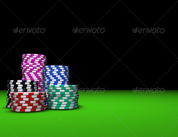 Casino Poker Chips - Stock Photo - Images