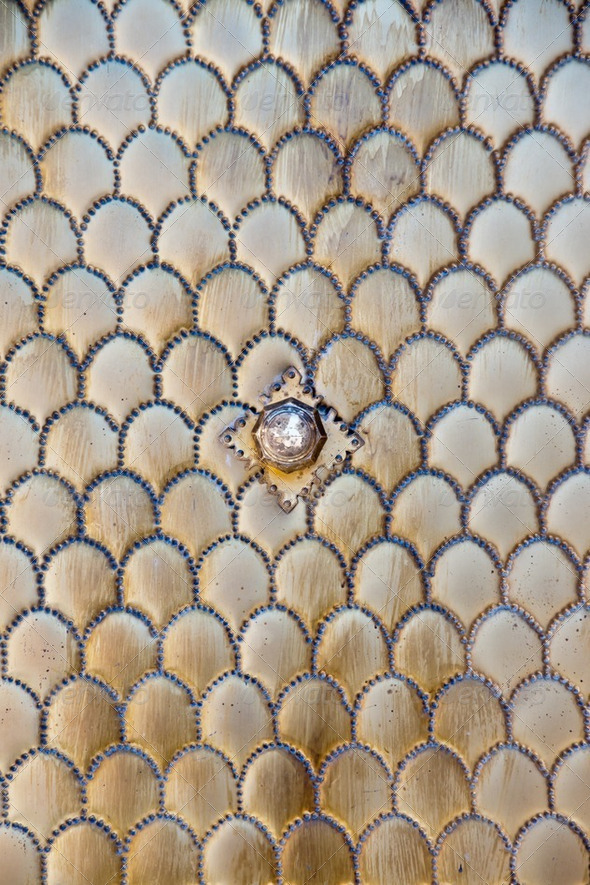 metallic door pattern - Stock Photo - Images