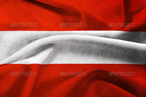 Austria flag background  - Stock Photo - Images