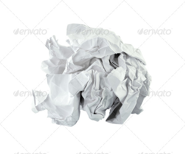 Crumpled paper ball - Stock Photo - Images