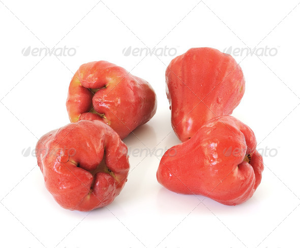 Rose apples or chomphu isolated on white background - Stock Photo - Images