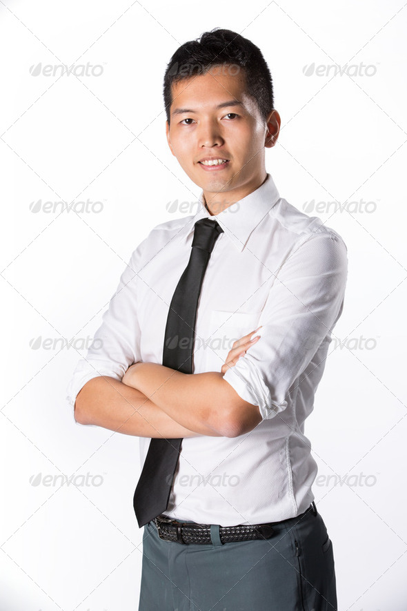 Happy young business man. - Stock Photo - Images