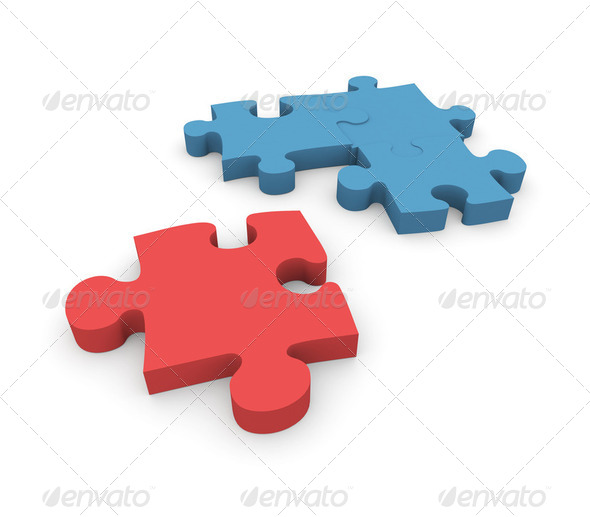 Jigsaw puzzle - Stock Photo - Images