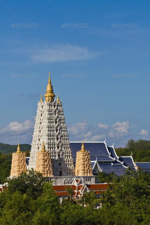 Bodh Gaya pagoda in Chonburi - Stock Photo - Images