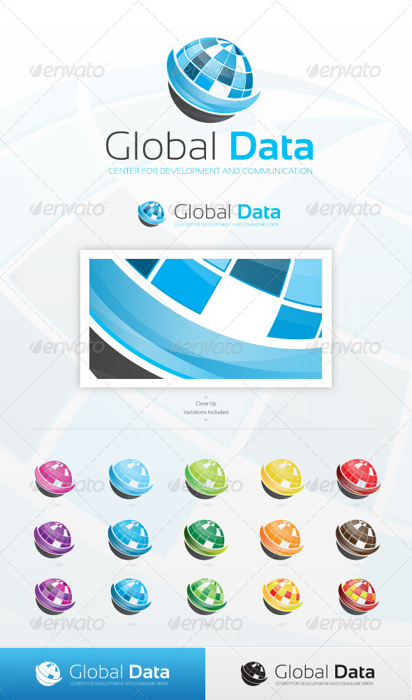 Global Data Logo - Symbols Logo Templates