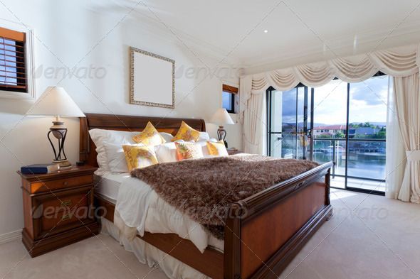 Spacious master bedroom - Stock Photo - Images