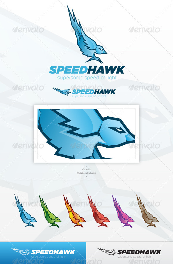Speed Hawk Logo - Animals Logo Templates
