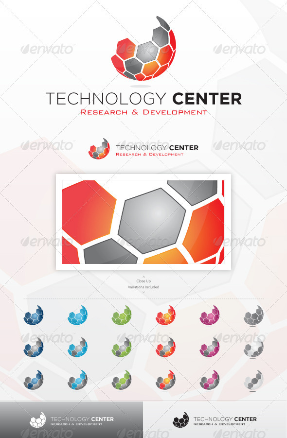 Technology Center - Abstract Logo Templates