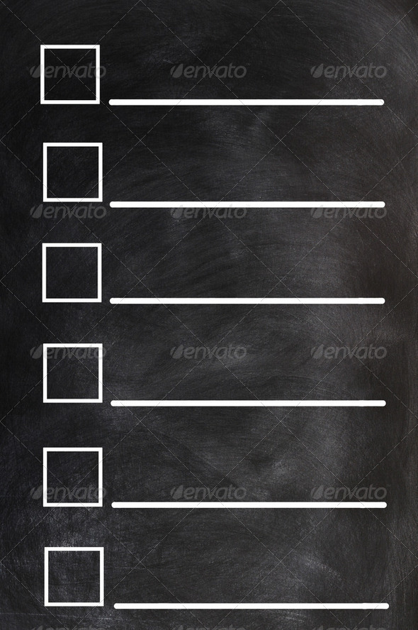 Blank form on a blackboard background - Stock Photo - Images
