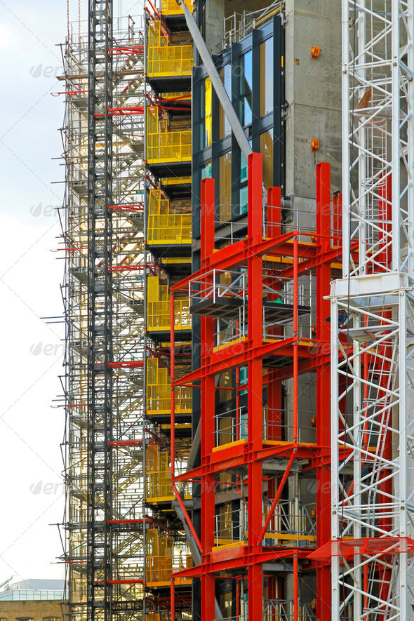 Construction scaffolding - Stock Photo - Images