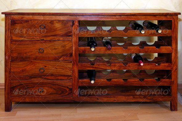 Wine rack - Stock Photo - Images