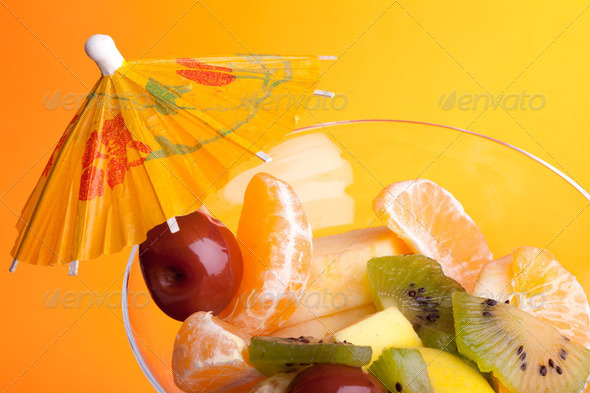 Cup With Fruit Salad - Stock Photo - Images