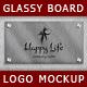 Glassy Board Logo Mockups - GraphicRiver Item for Sale