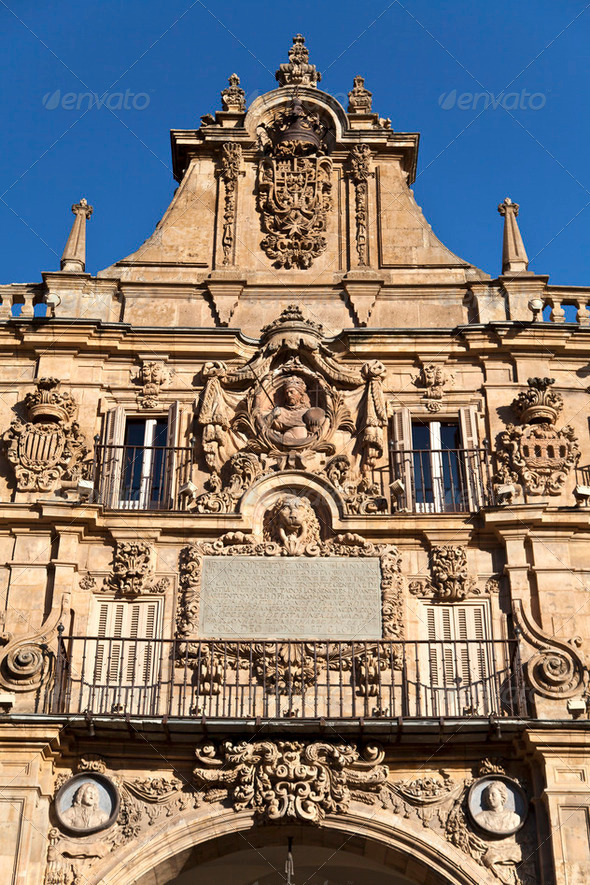 Salamanca Plaza Mayor - Stock Photo - Images