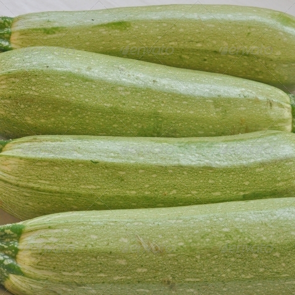 Courgettes zucchini - Stock Photo - Images