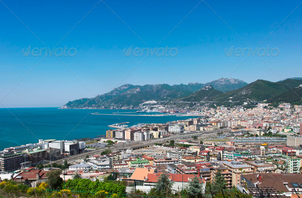 landscape of Salerno - Stock Photo - Images