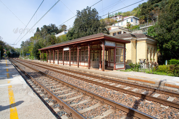 Miramare railroad station - Stock Photo - Images