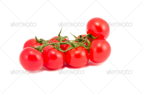 isolated tomato group - Stock Photo - Images