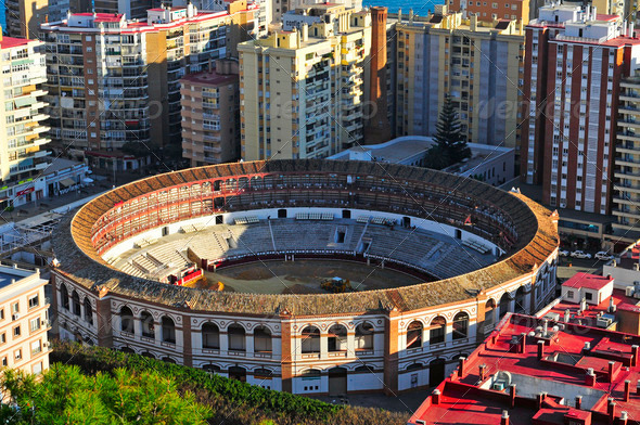 La Malagueta Bullring in Malaga, Spain - Stock Photo - Images