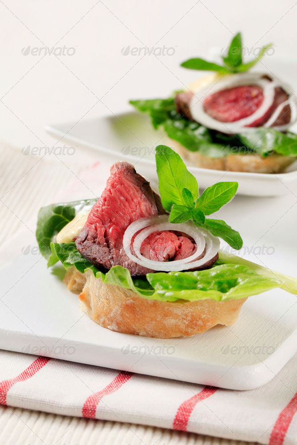 Roast Beef Sandwiches - Stock Photo - Images