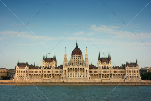 Hungarian parliament building - Stock Photo - Images