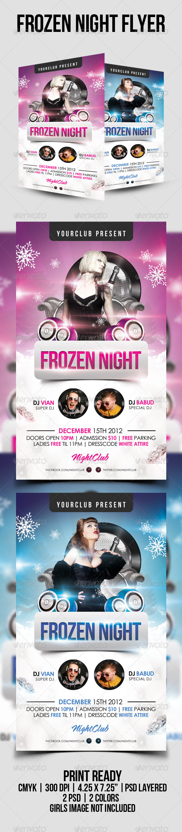 GraphicRiver Frozen Night Psd Flyer Template 3353987