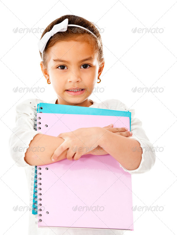Girl going to school - Stock Photo - Images